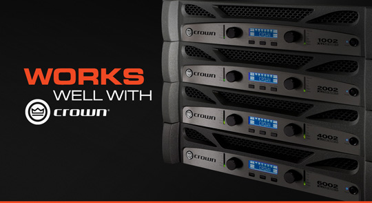 JBL PRX400 Series seamless integration with Crown XTi2 Amps