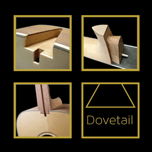 Cort AD880MCE Dovetail Neck Joint