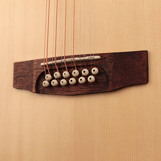 Cort GA-MEDX-12 12 String Scooped Bridge