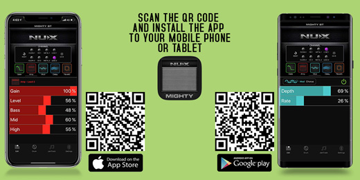 NU-X Mighty 40 BT QR Code