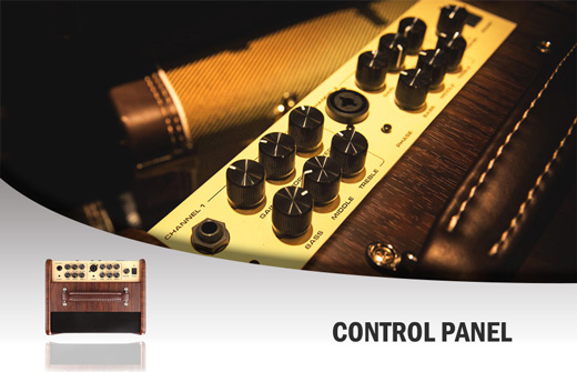 NU-X AC50 Stageman Acoustic Amplifier Control Panel