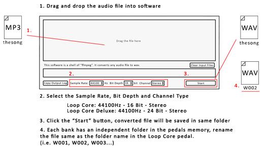 NU-X Loop Core Audio File Converter