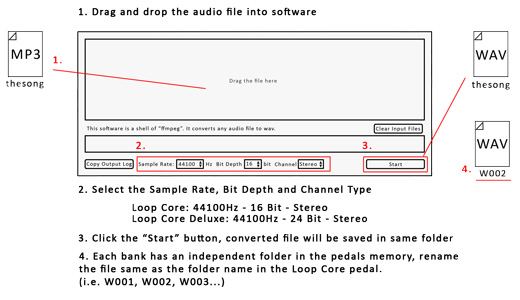 NU-X Loop Core Deluxe Audio File Converter Software