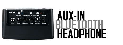 NU-X Mighty Lite Aux-In, Bluetooth, Headphones