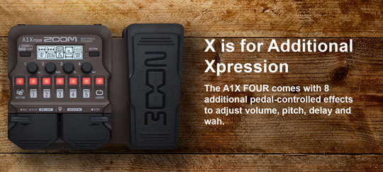 Zoom A1X Multi Effects with Expression Pedal