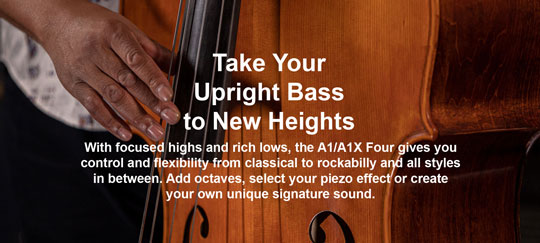 Zoom A1X FOUR Multi Effects for Upright Bass