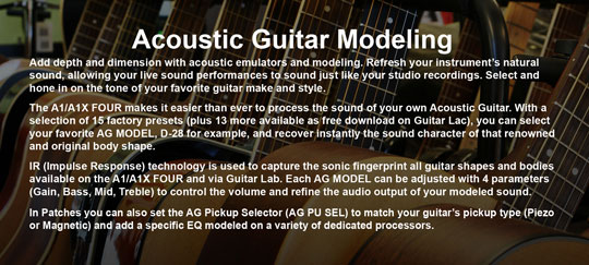 Zoom A1X Four Acoustic Guitar Modeling