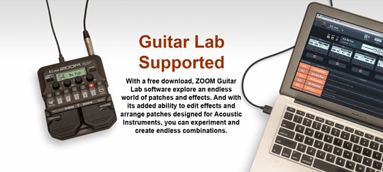 Zoom A1 FOUR Guitar Lab Supported