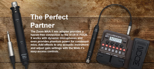 Zoom A1X FOUR MAA-1 Microphone Adaptor