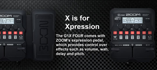 Zoom G1X Four with Expression Pedal