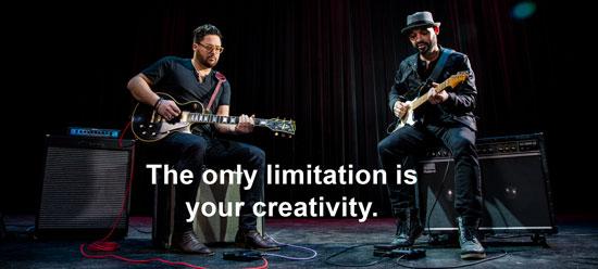 Zoom G1 FOUR enhances your creativity