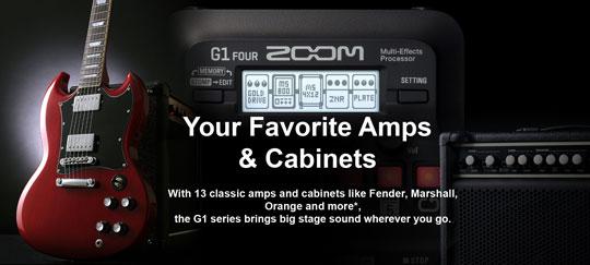 Zoom G1 FOUR Amp & Cabinet Modeling