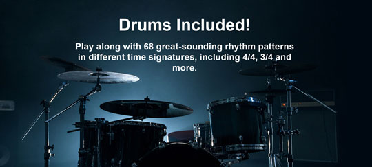 Zoom G1 Four 68 grat sounding drum rhythm patterns
