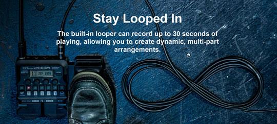 Zoom G1 FOUR built-in Looper