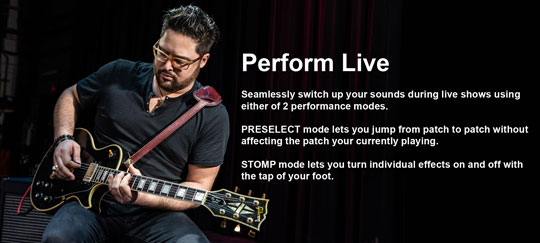Zoom G1 FOUR Live Performance Modes