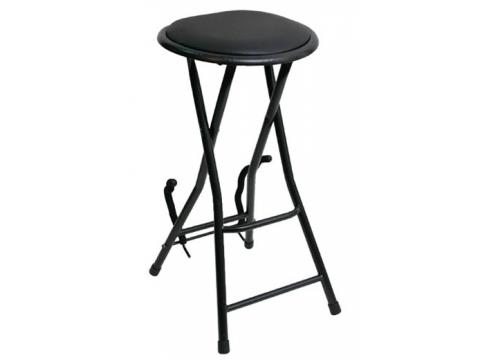 guitarist combo stool with built in guitar stand and foot rest bc wholesalers. Black Bedroom Furniture Sets. Home Design Ideas