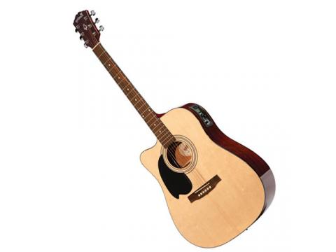 Monterey Left Hand Acoustic Cutaway With Pickup 101 Natural Bc