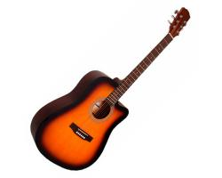 Odessa Acoustic Guitar with Cutaway Sunburst