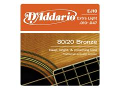 D'Addario 80/20 Bronze 10-47 Extra Light - EJ10