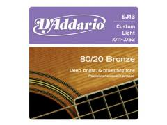 D'Addario 80/20 Bronze 11-52 Custom Light - EJ13