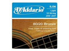 D'Addario 80/20 12 String 10-47 Light EJ36