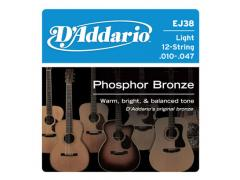 D'Addario Phosphor Bronze 12 String 10-47 Light - EJ38