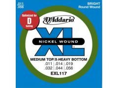 D'Addario XL 11-56 Medium Top Extra Heavy Bottom - EXL117