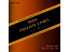 Private Label Nickel Wound Bass 50-105 Medium Light