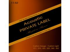 Private Label Phosphor Bronze Custom 11-52 Custom Light
