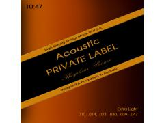 Private Label Phosphor Bronze 10-47 Extra Light