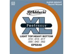 D'Addario ProSteel 10-52 Light Top Heavy Bottom - EPS540