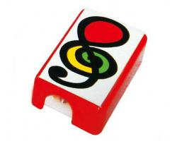 Pencil Sharpener Red with Treble Clef 5 Pack