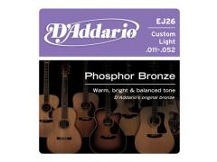 D'Addario Phosphor Bronze 11-52 Custom Light - EJ26