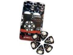 Skull Guitar Picks in a Tin