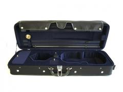 Violin Case - Oblong Hill Style Lightweight Black Exterior