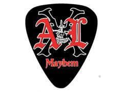 AXL Mayhem Logo Guitar Pick Black