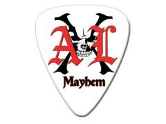 AXL Mayhem Logo Guitar Pick White