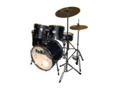 Student Rock Drum Kit 5 Piece - Black
