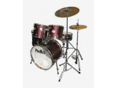 Student Rock Drum Kit 5 Piece - Wine Red
