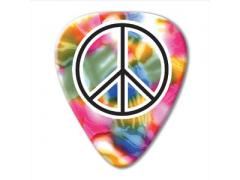 Unlimited Series Guitar Pick - Rainbow Peace Sign