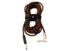 UXL Cotton Covered Guitar Lead 7m Right Angle Jack