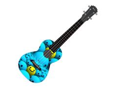 Kealoha Graphic Concert Ukulele 24-43 - Smiley Ball
