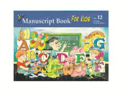 Manuscript Book 12 - 24 pages, 6 Giant staves for Kids 11833