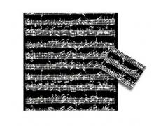 Gift Wrapping Paper - Bach Manuscript Black